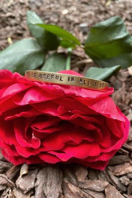 "Catherine Parr ""To Be Useful in All I Do"" Cuff"