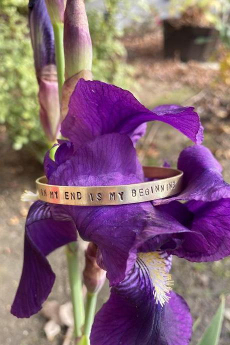 "Mary Queen of Scots ""In My End is My Beginning"" Motto Cuff"